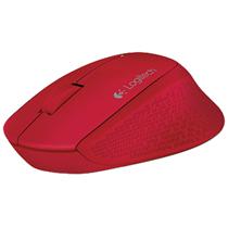 罗技M280无线鼠标 持久电量 人体工学设计(红色)